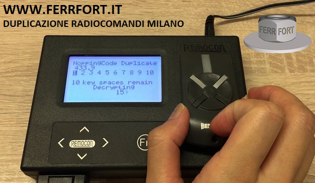 DUPLICAZIONE RADIOCOMANDI MILANO