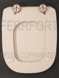 Copriwater Selecta Hatria legno rivestito in resina poliestere bianco