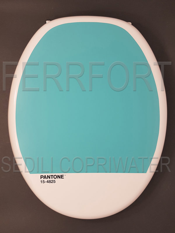 UNIVERSAL COLORED TOILET SEAT PANTONE OUT TURQUOISE 15-4825