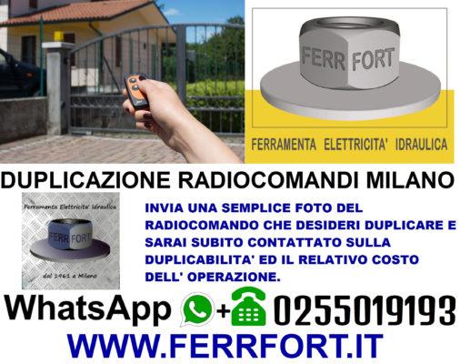 RADIO REMOTE CONTROL GATE DUPLICATION IN MILAN