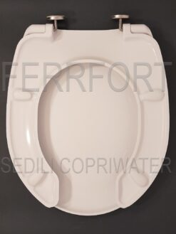 TOILET SEAT FOR DISABLED PEOPLE IN THERMOSETTING DUROPLAST TD30 WHITE